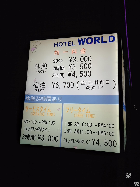 ホテルワールド料金
